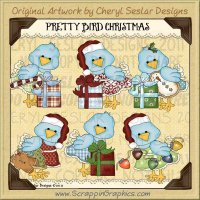 Pretty Bird Christmas Limited Pro Clip Art Graphics