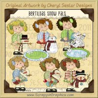 Bertilda's Snow Pals Limited Pro Clip Art Graphics