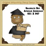 African American Graduate Boy Single Graphics Clip Art Download