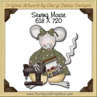 Sewing Mouse Single Graphics Clip Art Download