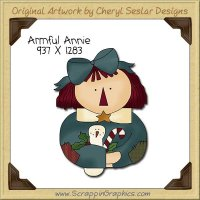 Armful Annie Single Clip Art Graphic Download