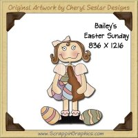 Bailey's Easter Sunday Single Graphics Clip Art Download