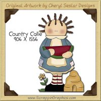 Country Callie Single Clip Art Graphic Download