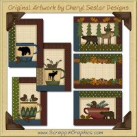 The Great Outdoors Sampler Card Printable Craft Download