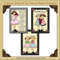 Cutie Cards One Sampler Collection Printable Craft Download