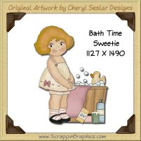 Bath Time Sweetie Single Graphics Clip Art Download