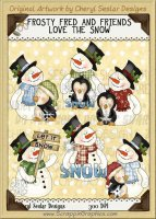 Frosty Fred & Friends Love The Snow Limited Pro Clip Art Graphics