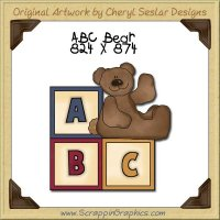 ABC Bear Single Graphics Clip Art Download