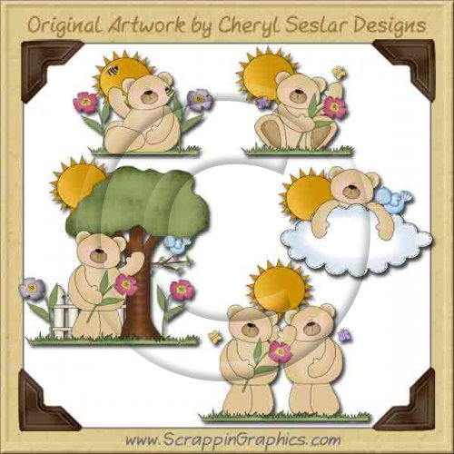 Sunshine Bears Collection Graphics Clip Art Download