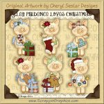 Piglet Prudence Loves Christmas Limited Pro Clip Art Graphics