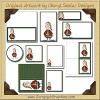 Pudgy Santa Printable Pack Graphics Clip Art Download