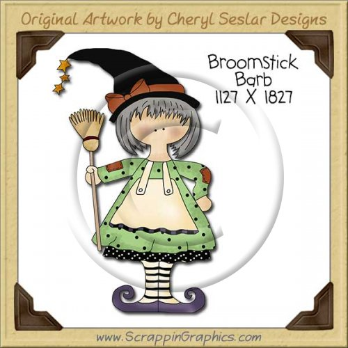 Broomstick Barb Single Clip Art Graphic Download