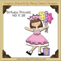 Birthday Princess Single Clip Art Graphic Download