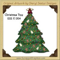 Christmas Tree Single Graphics Clip Art Download