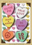 3D Conversation Hearts Sediments Clip Art Graphics