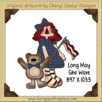 Long May She Wave Single Graphics Clip Art Download
