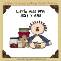 Little Miss Prim Single Graphics Clip Art Download