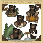 Outdoor Bears Collection Graphics Clip Art Download