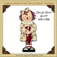Candy Cane Raggedy Single Graphics Clip Art Download