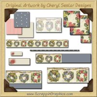 Grandma's Garden Web Set Graphics Clip Art Download