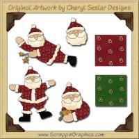 Silly Santa Collection Graphics Clip Art Download