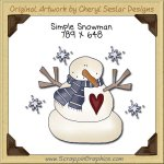 Simple Snowman Single Graphics Clip Art Download