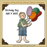 Birthday Boy Single Graphics Clip Art Download