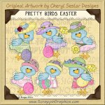 Pretty Bird Easter Limited Pro Clip Art Graphics