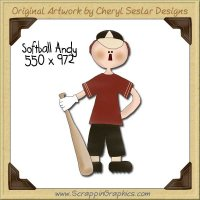 Softball Andy Single Graphics Clip Art Download