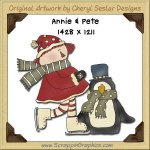Annie & Pete Penguin Single Graphics Clip Art Download