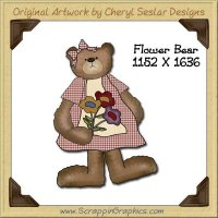 Flower Bear Single Graphics Clip Art Download