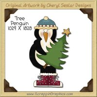 Tree Penguin Single Clip Art Graphic Download