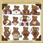 Valentine Bears Collection Graphics Clip Art Download