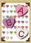 3D Conversation Hearts Letters & Numbers Clip Art Graphics