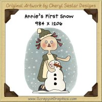 Annie's First Snow Single Graphics Clip Art Download