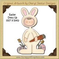 Easter Dress Up Single Graphics Clip Art Download