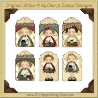 Salt Box Angel Tags Collection Printable Craft Download