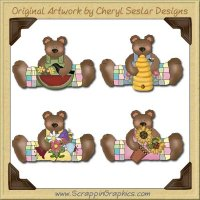 Little Country Bears Collection Graphics Clip Art Download