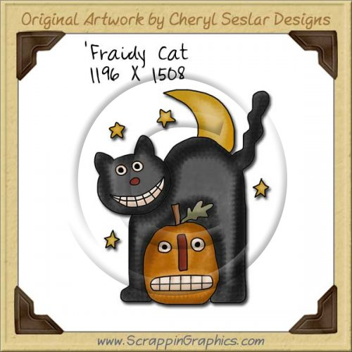 'Fraidy Cat Single Graphics Clip Art Download