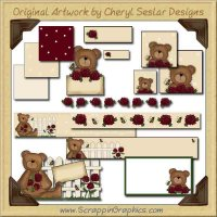 Picket Fence Bear Web Set Graphics Clip Art Download