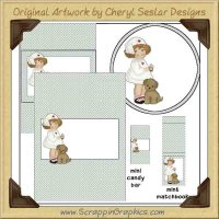Nurse Sweetie Wrapper Set Printable Craft Collection Graphics Cl