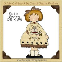 Doggy Deanna Single Clip Art Graphic Download