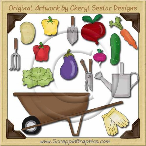 Grandpa's Garden Collection Graphics Clip Art Download