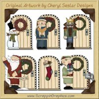 Christmas Doors Graphics Clip Art Download