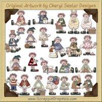Raggedy Wishes Collection Clip Art Download