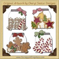 Christmas Jars Graphics Clip Art Download