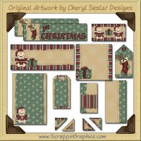 Baby's First Christmas Journaling Delights Digital Scrapbooking Graphics Clip Art Download