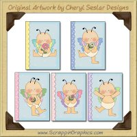 Butterfly Baby Card Sampler Collection Printable Craft Download