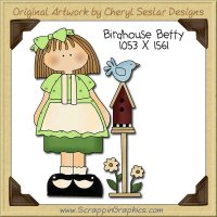 Birdhouse Betty Single Clip Art Graphic Download