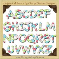 Hey Cupcake Alphabet EXCLUSIVE Collection Graphics Clip Art Down